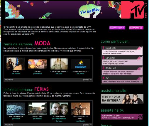 Imagem Site Fiz Na MTV